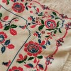 Vintage Embroidered Table Cloth KM